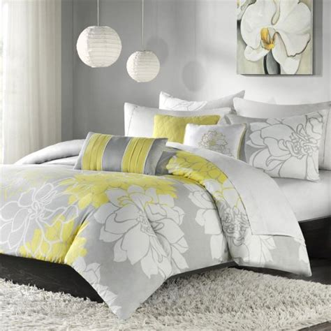 Yellow And Grey Duvet Set gt cheap park lola 6 printed duvet cover set grey yellow for sale