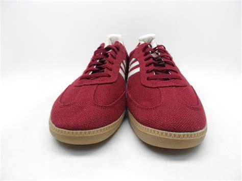 mens adidas samba hemp athletic shoe adidas s originals samba hemp shoes burgundy white