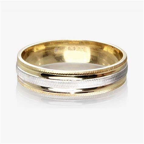 wedding rings 9ct gold 2 colour luxury weight ladies wedding ring 4 5mm
