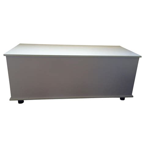 Black And White Storage Ottoman Large Wooden Ottoman Storage Chest Trunk Box With Lid White Black Or Beech Ebay