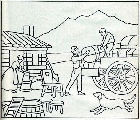 Lds Pioneer Coloring Pages pioneer coloring page coloring home