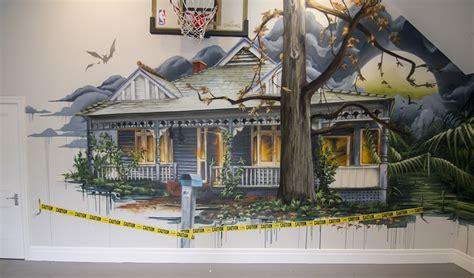 haunted house interior haunted house interior custom mural set it off