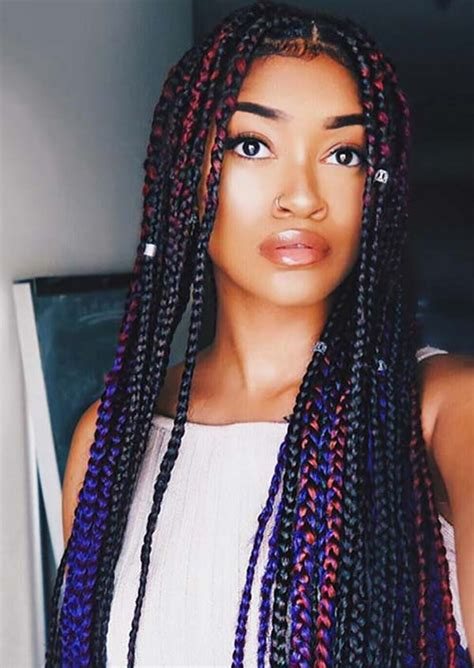 how box braid look with bangs the 411 on box braids why they re great and how to wear