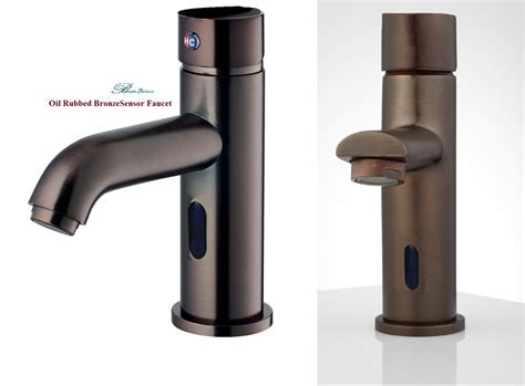 Touchless Bathroom Faucet Bronze