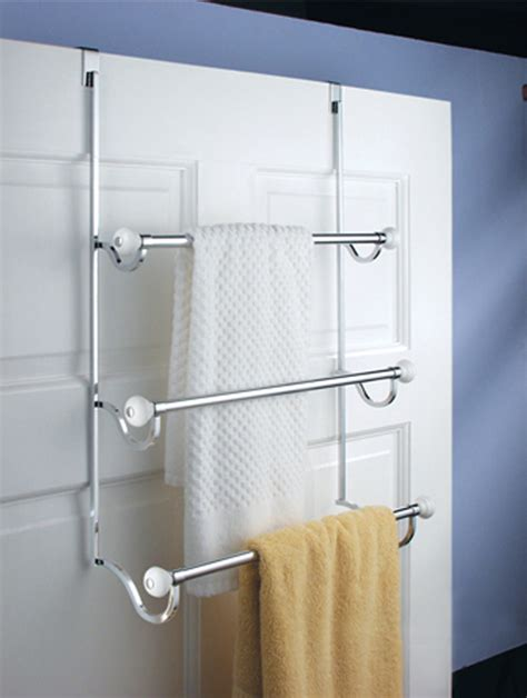 bathroom door rack curtain bath outlet york over the door towel rack
