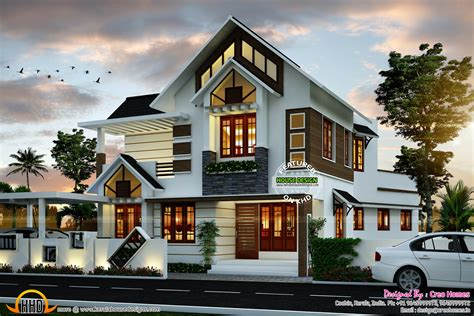 house to home designs super cute modern house plan kerala home design and