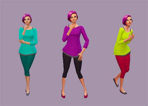 my sims 4 blog base game book recolors by inabadromance my sims 4 blog sweater and base game leggings recolors by