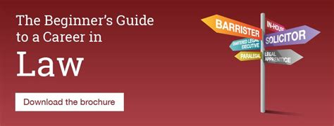 beginners guide to the law the beginner s guide to a career in law