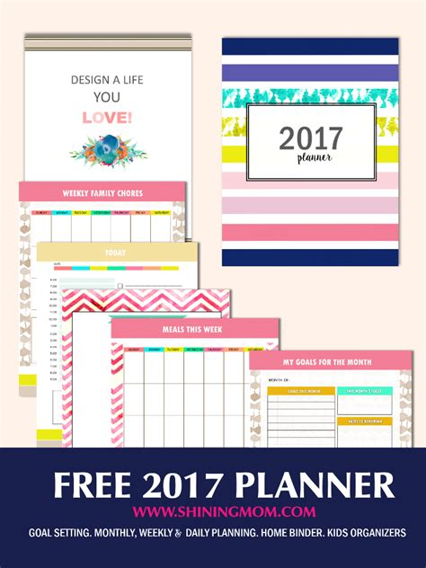 free printable mom planner 2016 free planner 2017 design a life you love