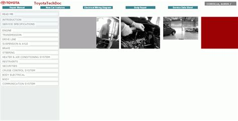 toyota auris corolla 2008 repair manuals download