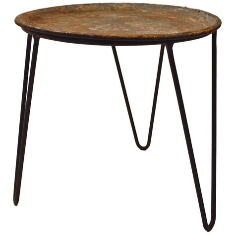 Rod Iron Table Legs by Wrought Iron And Zinc Plant Stand Tray Table With