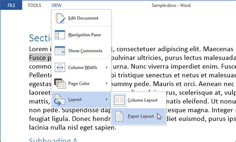 layout mode js how to customize and use the read mode in word