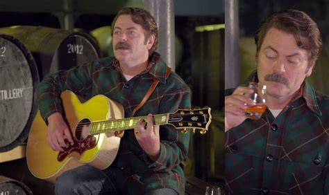 nick offerman youtube whiskey nick offerman sings about his one true love whiskey one