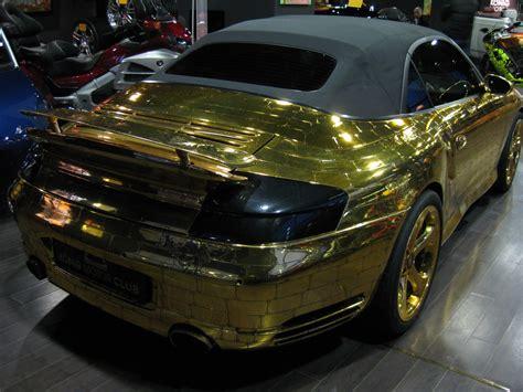 gold porsche convertible buy a gold scaly porsche 996 turbo cabriolet for 61 000