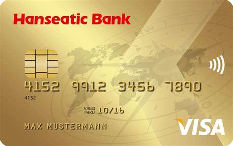 otto hanseatic bank hanseatic bank goldcard kreditkarte kreditkarte mit