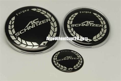 Emblem Bmw Ac Schnitzer Silver Velg Center 68mm 3d bmw ac schnitzer forged 7pcs emblems 82mm 73mm trunk 68mm wheel center caps 45mm steering