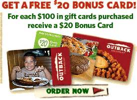 Outback Gift Card Deal - outback gift card deal