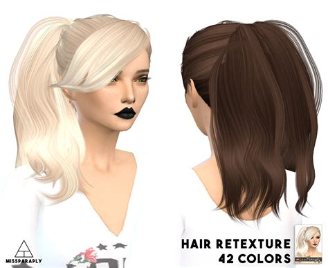 sims 4 hairs butterflysims side ponytail hair 164 sims 4 hairs miss paraply stealthic hairstyles dump part 1