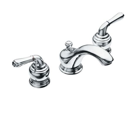 monticello chrome two handle low arc bathroom faucet