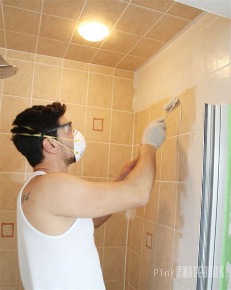 painting tile in bathroom yes you really can paint tiles rust oleum tile
