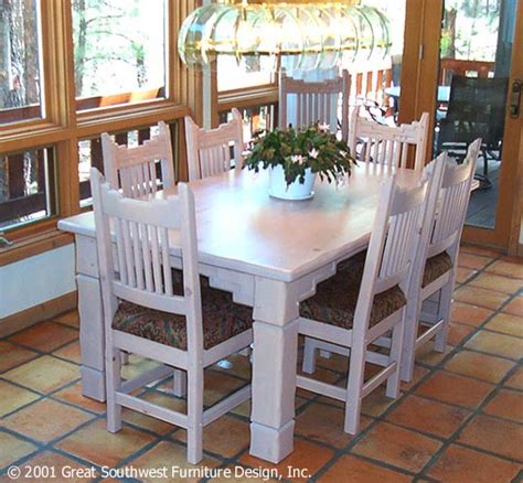 southwest dining room furniture santa fe southwest style dining set tables chairs