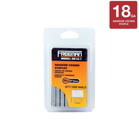 freemans home freeman 1 in 18 staples ns18 1 the home depot