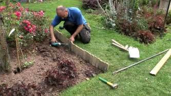 Install Landscape Edging Roll How To Install Log Roll Edging