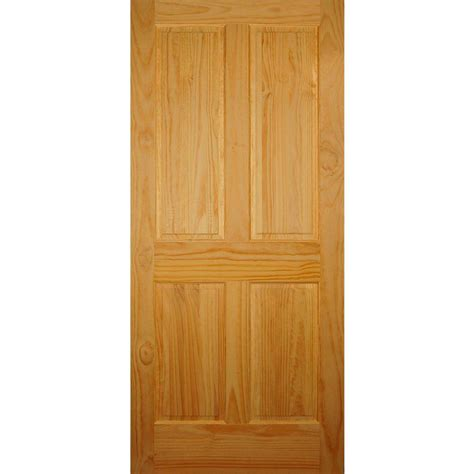 home depot doors interior pre hung builder s choice 36 in x 80 in 4 panel solid pine