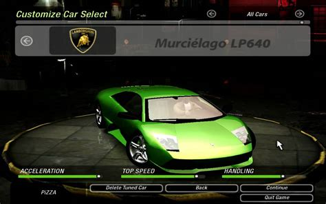 Need For Speed UnderGround 2 Lamborghini Murciélago LP640