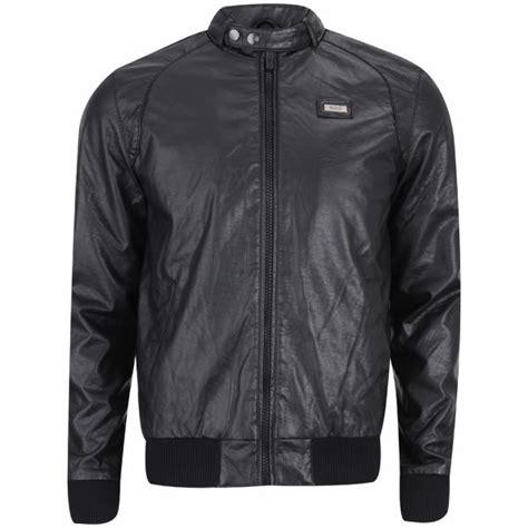 ecko s saboo leather look jacket black clothing