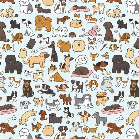 cute dog wallpapers wallpaper wallpapers pinterest dog キラキラ doodles doggy doodle 3 scribbles pinterest