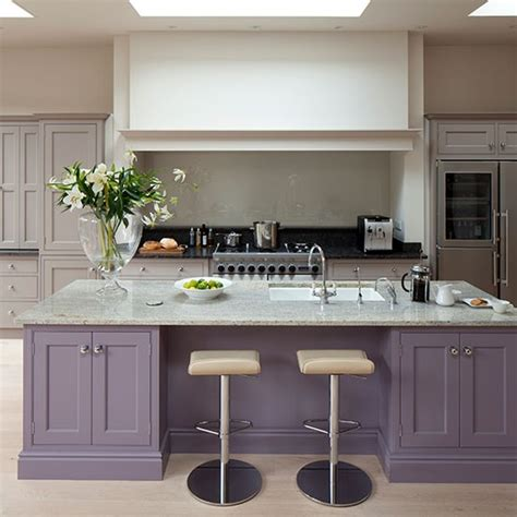 painted kitchen island ideas purple kitchen island painted kitchen design ideas
