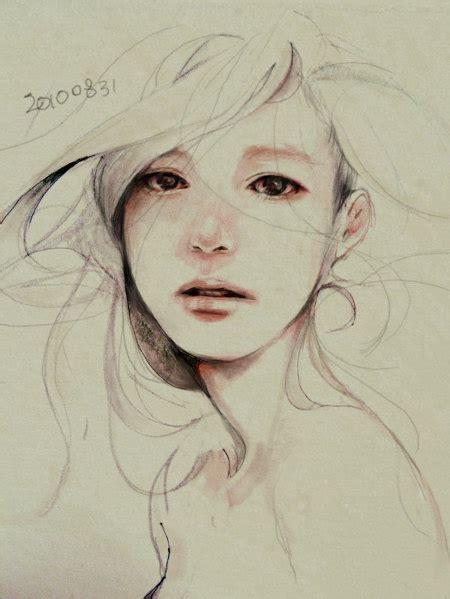 beautiful drawing girl heart thelovedbird image