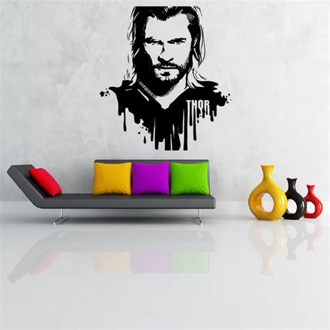 superheroes wall stickers thor wall sticker wall