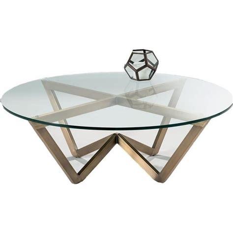 Zenith Coffee Table Nord Zenith Circular Glass Coffee Table Brass Effect Framework