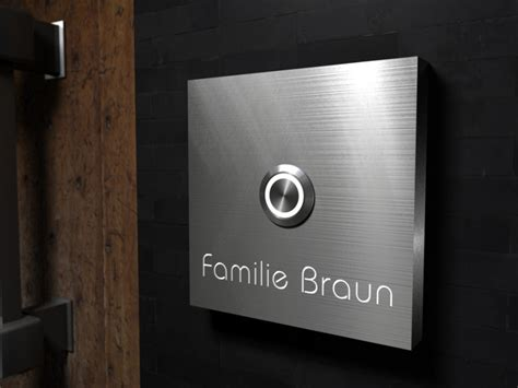 Luxury Door Bells by Luxury Design High Quality Steel Bell With Osram Led Name