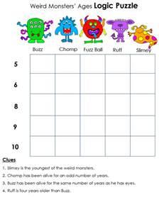 math worksheets logic puzzles fun with logic 4th grade