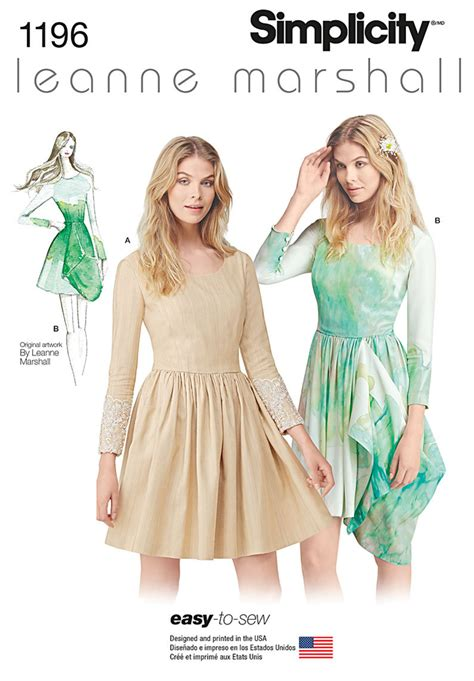 simplicity pattern ease out of print simplicity pattern 1196 misses easy to sew leanne