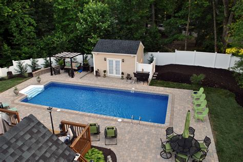 Inground Pool Backyard Designs by Triyae Backyard Designs With Inground Pools