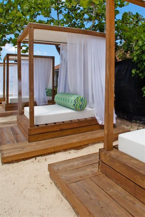 Outdoor Cabana Bed by S Chic Cabanas Create An Outdoor Living Space Just Steps From The Sea