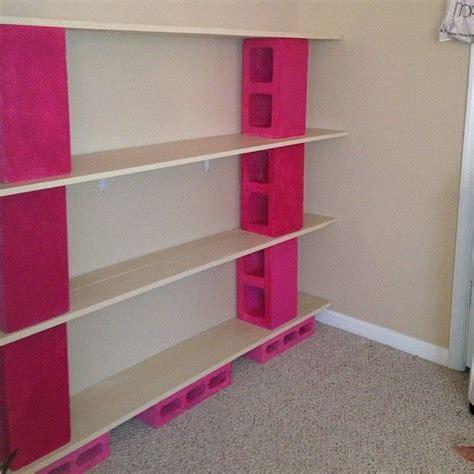 cinder block furniture diy shelves bookshelves made from