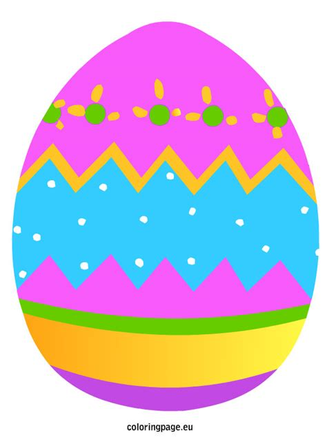 Easter Picture Templates by Easter Egg Template In Color Www Pixshark Images