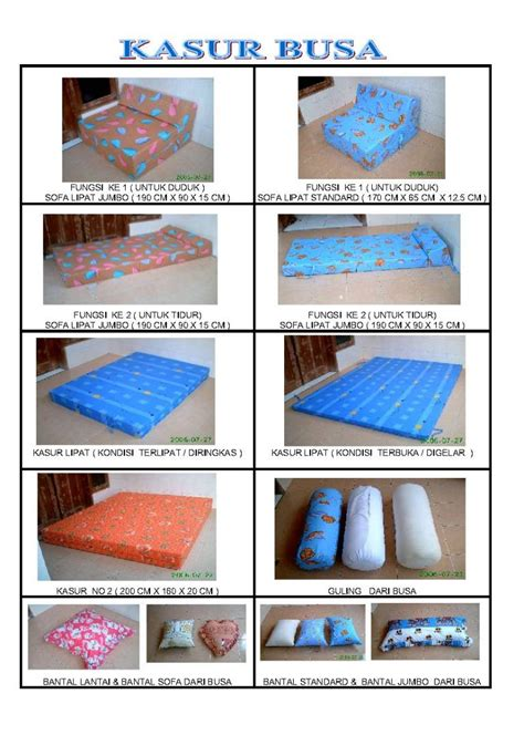 Kasur Busa Besar jual kasur busa isi busa roll dan sofa lipat polyurethane berkualitas jual kasur busa isi