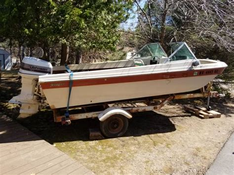 90hp johnson outboard boat and trailer 595 - Boat Repair Rhinelander Wi