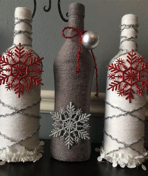 christmas holidays wine bottle decor craft bottles