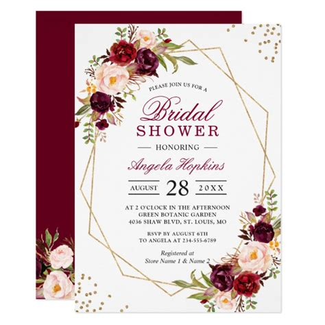 wine and gold template wedding invitation card sle burgundy marsala floral wedding invitation suite