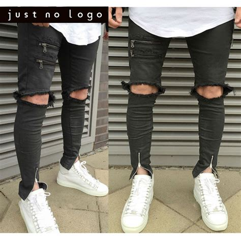 Knee Ripped Celana Sobek Sobek Pria New 1 compare prices on ankle zipper shopping buy low price ankle zipper at