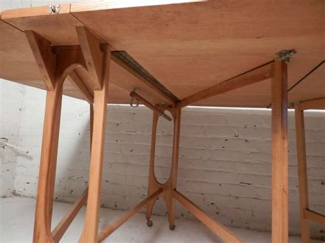 Fold Out Dining Table Mid Century Maple Fold Out Dining Table For Sale At 1stdibs