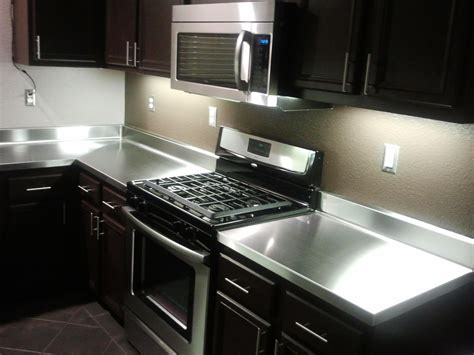 the kitchen gallery aluminium and stainless steel countertop custom with wilsonart stainless steel laminate