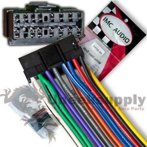 sony  pin stereo wiring harness ships  usa sy ebay